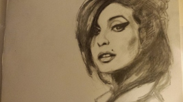 Tekening Amy Winehouse